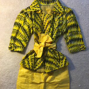 Other - Ankara African Print Blazer and Skirt outfit